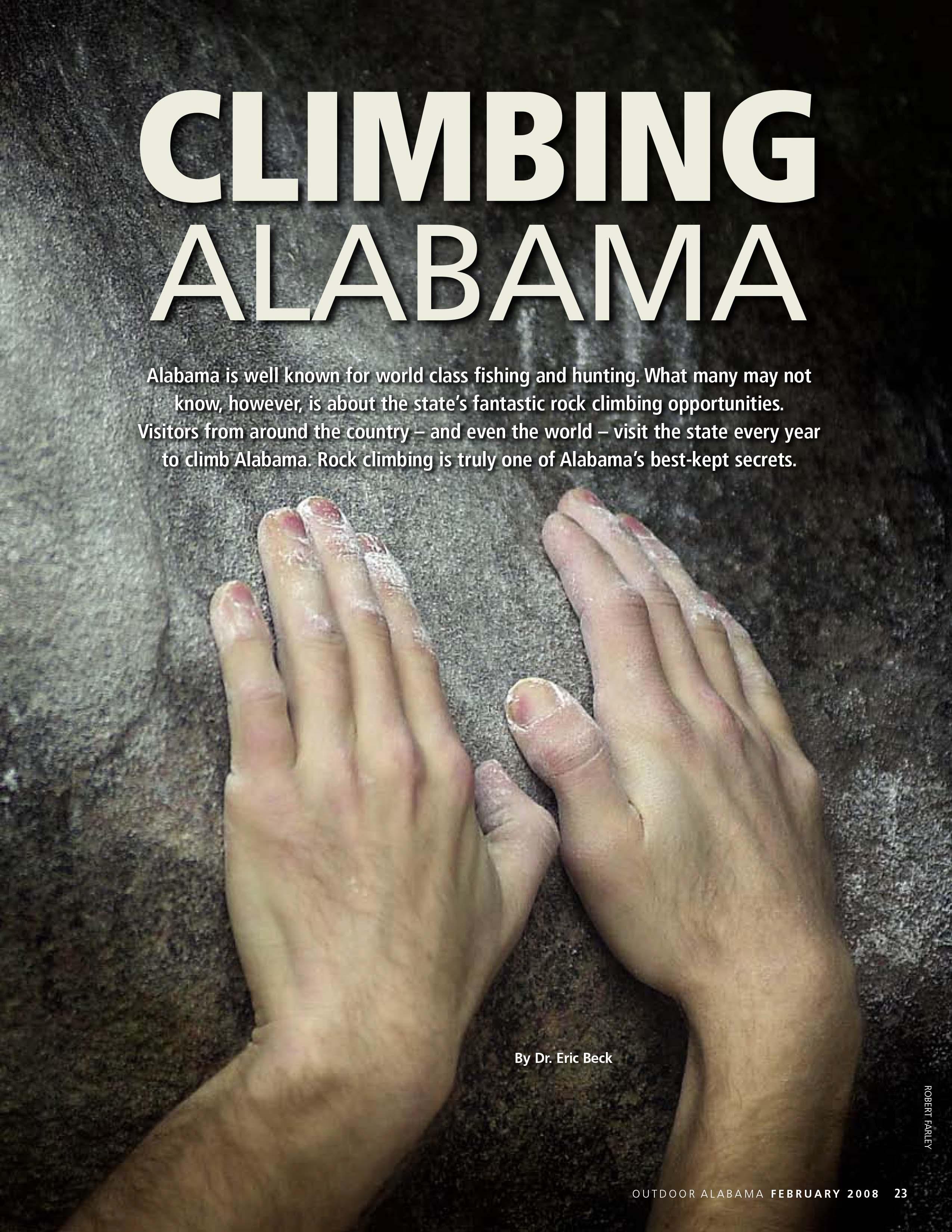Climbing Alabama By Dr. Eric Baeck