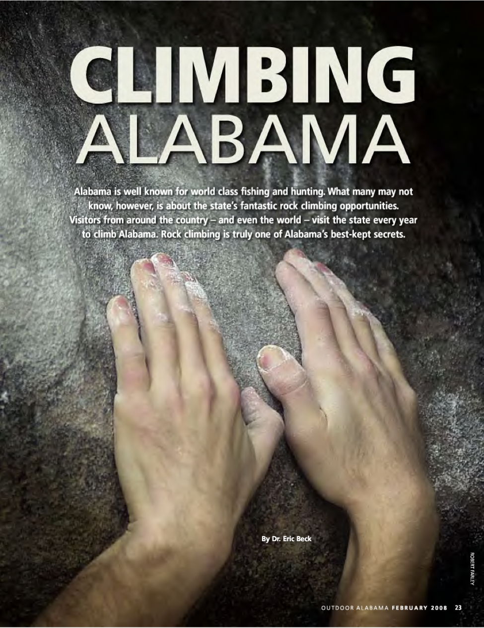 Climbing Alabama By Eric Beck, MD